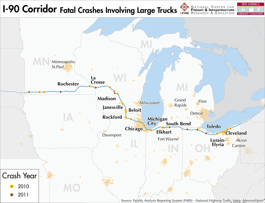 I-90 – Mid-America Freight Coalition I Map Of Chicago on map of i 290 chicago, map of interstate 88 chicago, map of interstate 94 chicago, map of i 55 chicago,
